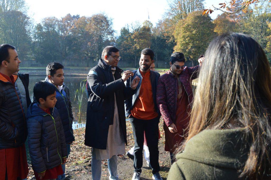 Pratap explaining Odisha's Maritime History